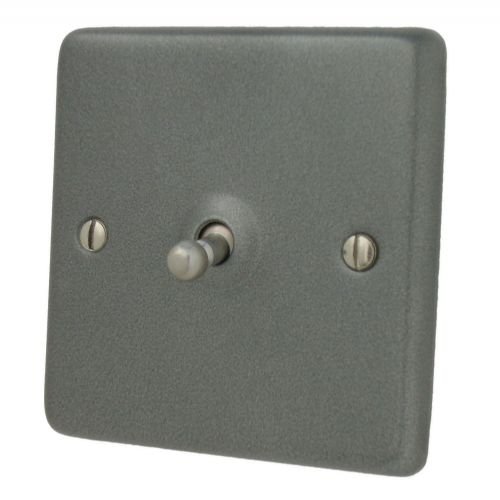 G&H CP281 Standard Plate Pewter 1 Gang 1 or 2 Way Toggle Light Switch